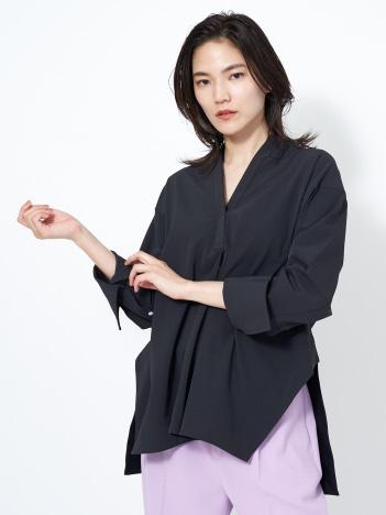 qualite - 【通勤・セットアップ】2WAYストレッチシャツ(無地)