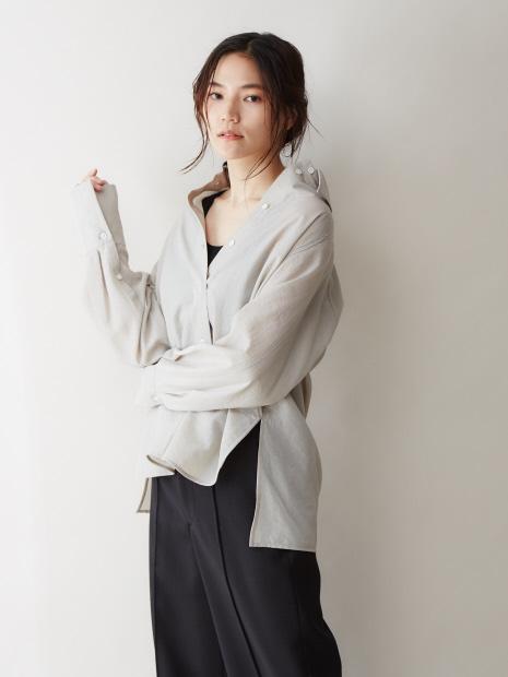 テンセルナイロンシアーシャツ【予約】