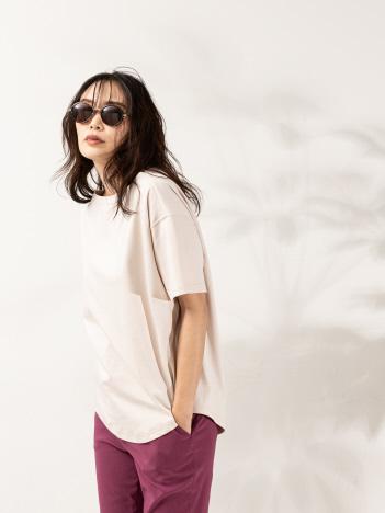 qualite - スウェットライクTシャツ