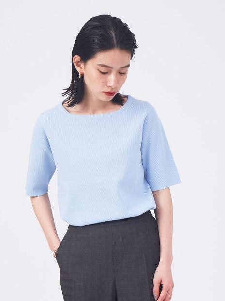 【新色登場】ウォッシャブルボートネックニットTシャツ