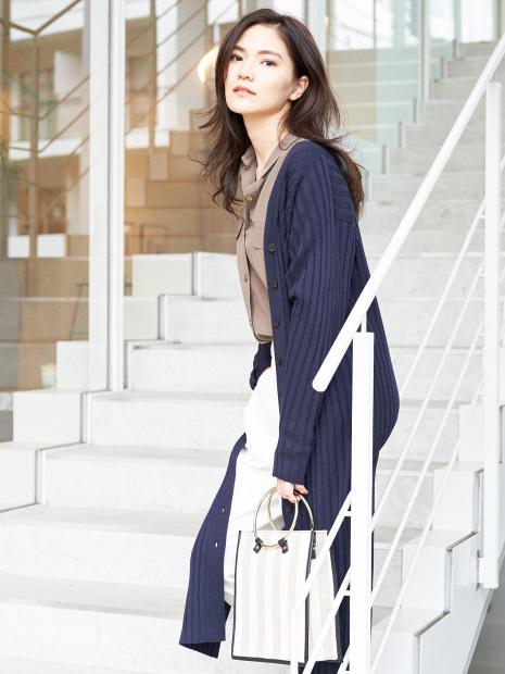 【Oggiコラボ】【人気色追加予約】ニットワンピでも着られる!4WAYカーディガン