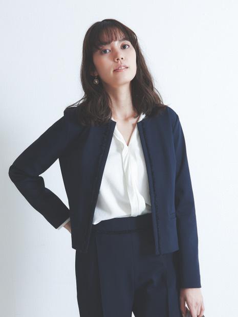 【セットアップ対応】【マザーニーズ】フリンジポンチジャケット