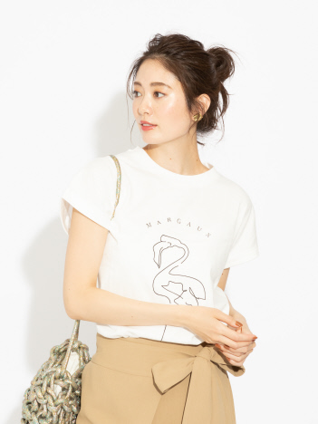 OUTLET (Ladie's) - 【MARGAUX】 フラミンゴTシャツ