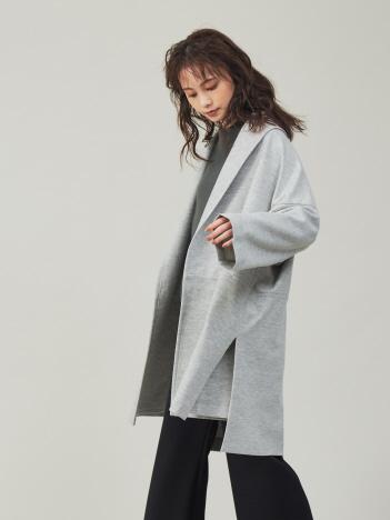 【新色入荷】圧縮ウールショールカラーコート