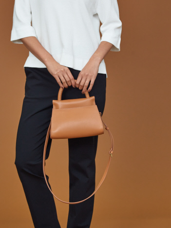 qualite - 【Elleme】SMALL LEATHER ハンドバッグ