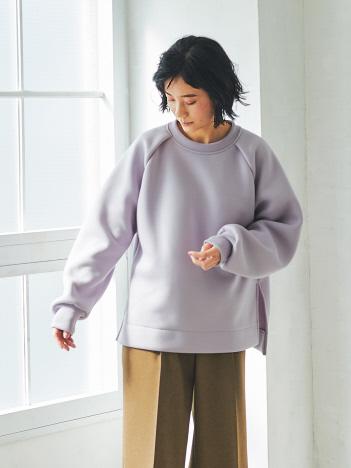 qualite - 【WEB・一部店舗限定】ラグランタックプルオーバー