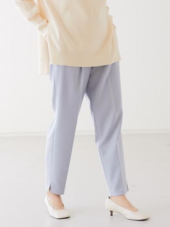 qualite - 【ピンク再入荷】【WEB限定】ダブルクロステーパードパンツ