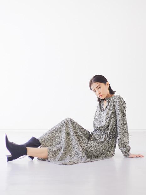 【WEB限定】ペイントレオパード柄2wayワンピース【予約】