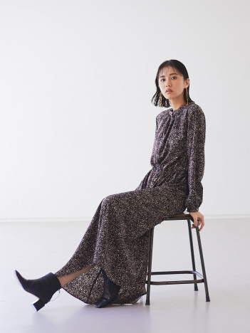 OUTLET (Ladie's) - 【WEB限定】ペイントレオパード柄2wayワンピース