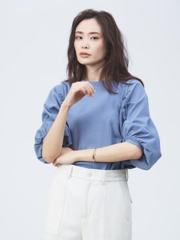 qualite - ギャザーパフスリーブカットソー【予約】