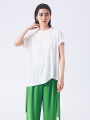 リネンコットンアシメTシャツ