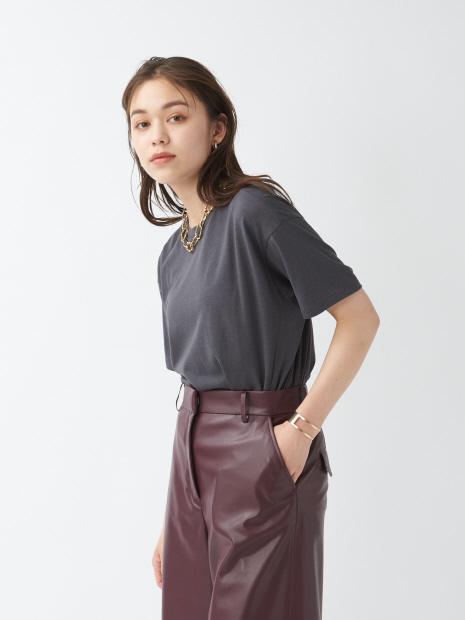 《新色登場》リネンコットンアシメTシャツ