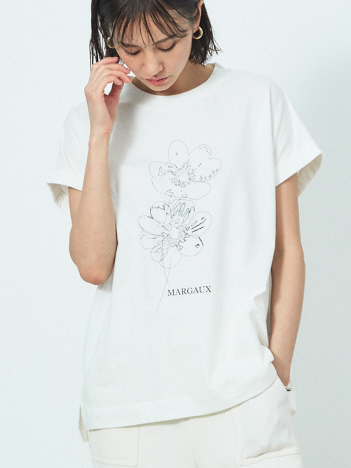 qualite - 【MARGAUX×scape】【WEB・一部店舗限定】HANA 別注Tシャツ