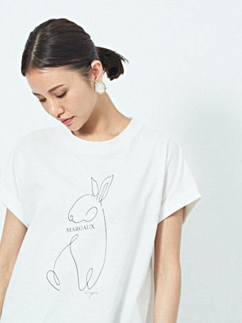 qualite - 【MARGAUX×scape】【WEB・一部店舗限定】USAGI別注Tシャツ