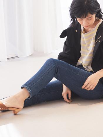 qualite - 【YANUK】【WEB限定】RUTH スリムテーパードデニム
