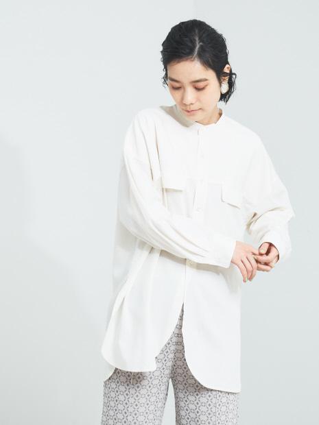 【WEB・一部店舗限定】バンドカラーシャツ