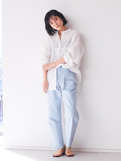 【WEB・一部店舗限定】パフスリーブレースシャツ【予約】