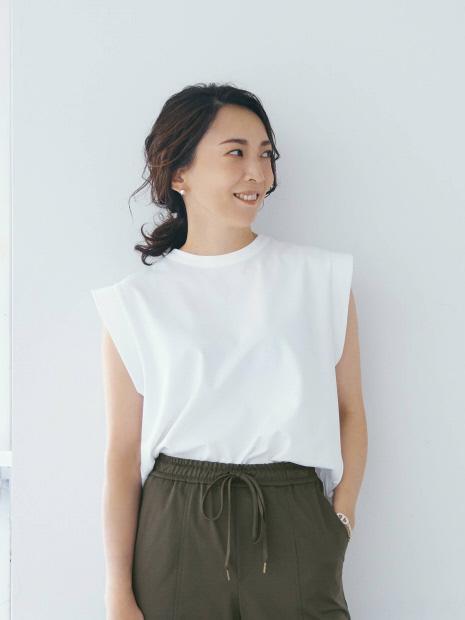 【エディター高橋志津奈 × qualite】 モクロディデザインTシャツ【セットアップ対応】