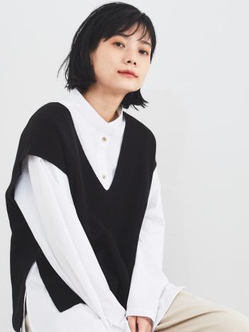 【WEB・一部店舗限定】シャツセットニットベスト