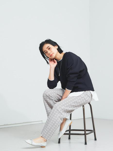 【WEB限定】ジャカードニットパンツ