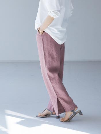 qualite - 【WEB・一部店舗限定】リネンタックパンツ