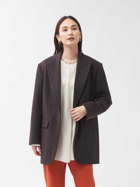ウールフラノジャケットコート