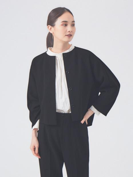 【セットアップ対応】ダブルクロスクロプドシャツジャケット【予約】