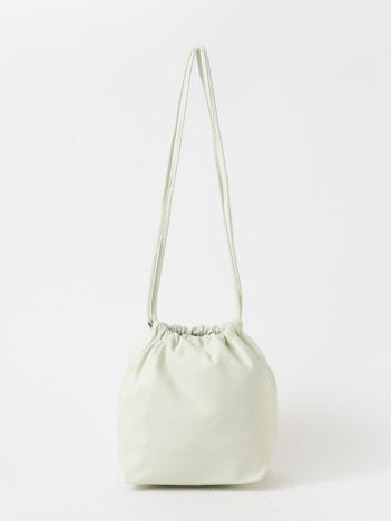 qualite - 【MODERN WEAVING】ラムレザー巾着バッグ