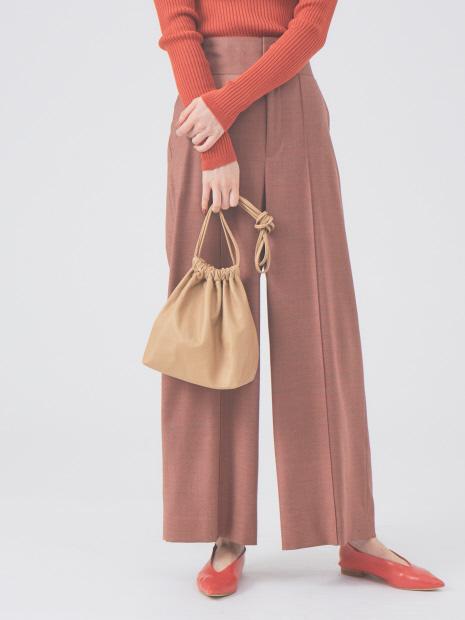 【MODERN WEAVING】ラムレザー巾着バッグ