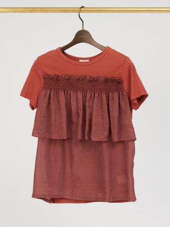 DESIGNWORKS (Ladie's) - CLU ラッフルTシャツ
