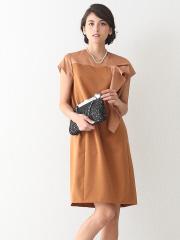 DESIGNWORKS (Ladie's) - バックサテンフリル飾りドレス