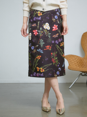 DESIGNWORKS (Ladie's) - ボタニカルプリントスカート