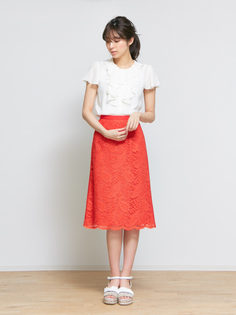 リバーレースAラインスカート