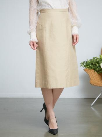 バックサテンシャンタンタイトスカート