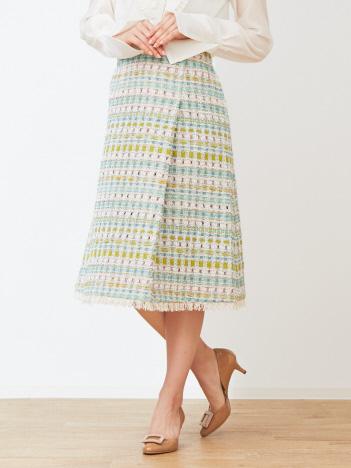 DESIGNWORKS (Ladie's) - ファンシーツィードラップスカート