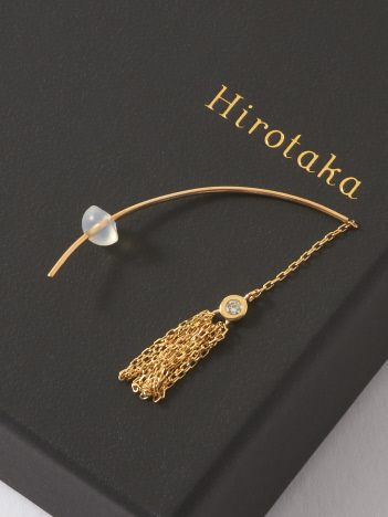 DESIGNWORKS (Ladie's) - Hirotaka Crinoid Diamond ショートタッセルピアス