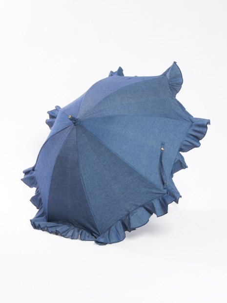 Kiwanda B.Bデニムフリルショート日傘