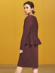 ミラノリブ裾ペプラムジャケット
