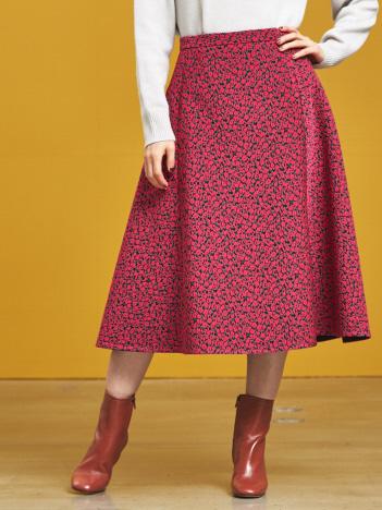 小花ジャガードスカート