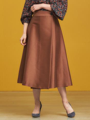 巻きフレアスカート