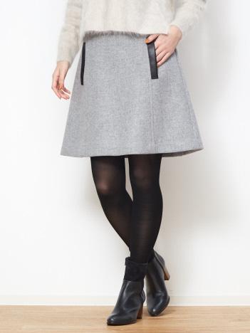 OUTLET (Ladie's) - ウールダブルフェイスミニスカート