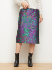 DESIGNWORKS (Ladie's) - フラワージャカードスカート