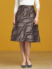DESIGNWORKS (Ladie's) - フラワージャガードスカート