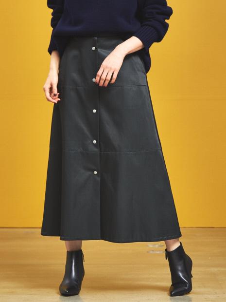 レーヨンコットンサテンスカート