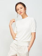 DESIGNWORKS (Ladie's) - 5分袖ニットプルオーバーTシャツ