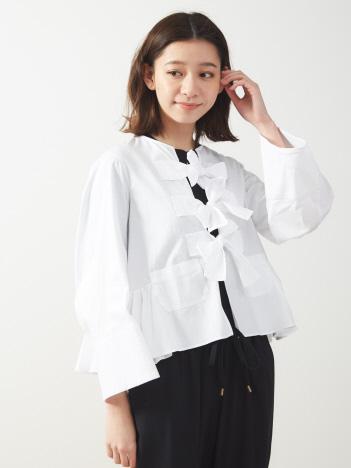 リボンシャツ シロ(LOVE SHIRT)