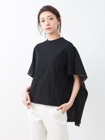 ポンチプルオーバー バックケープTシャツ