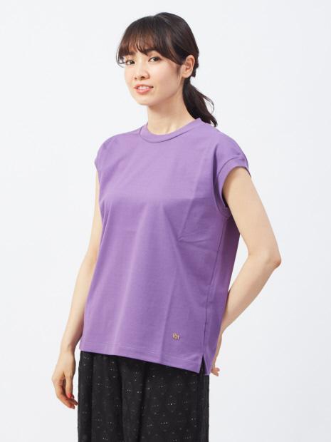 天竺ノースリーブTシャツ