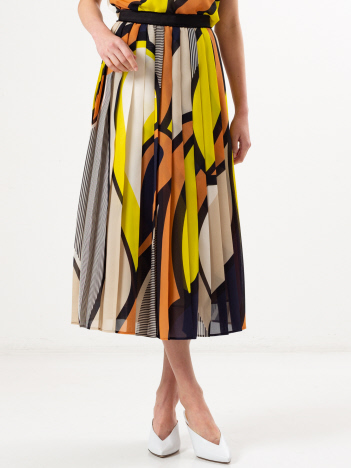 DESIGNWORKS (Ladie's) - ARTプリントプリーツスカート