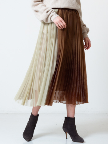DESIGNWORKS (Ladie's) - チュール×オーガンジープリーツスカート